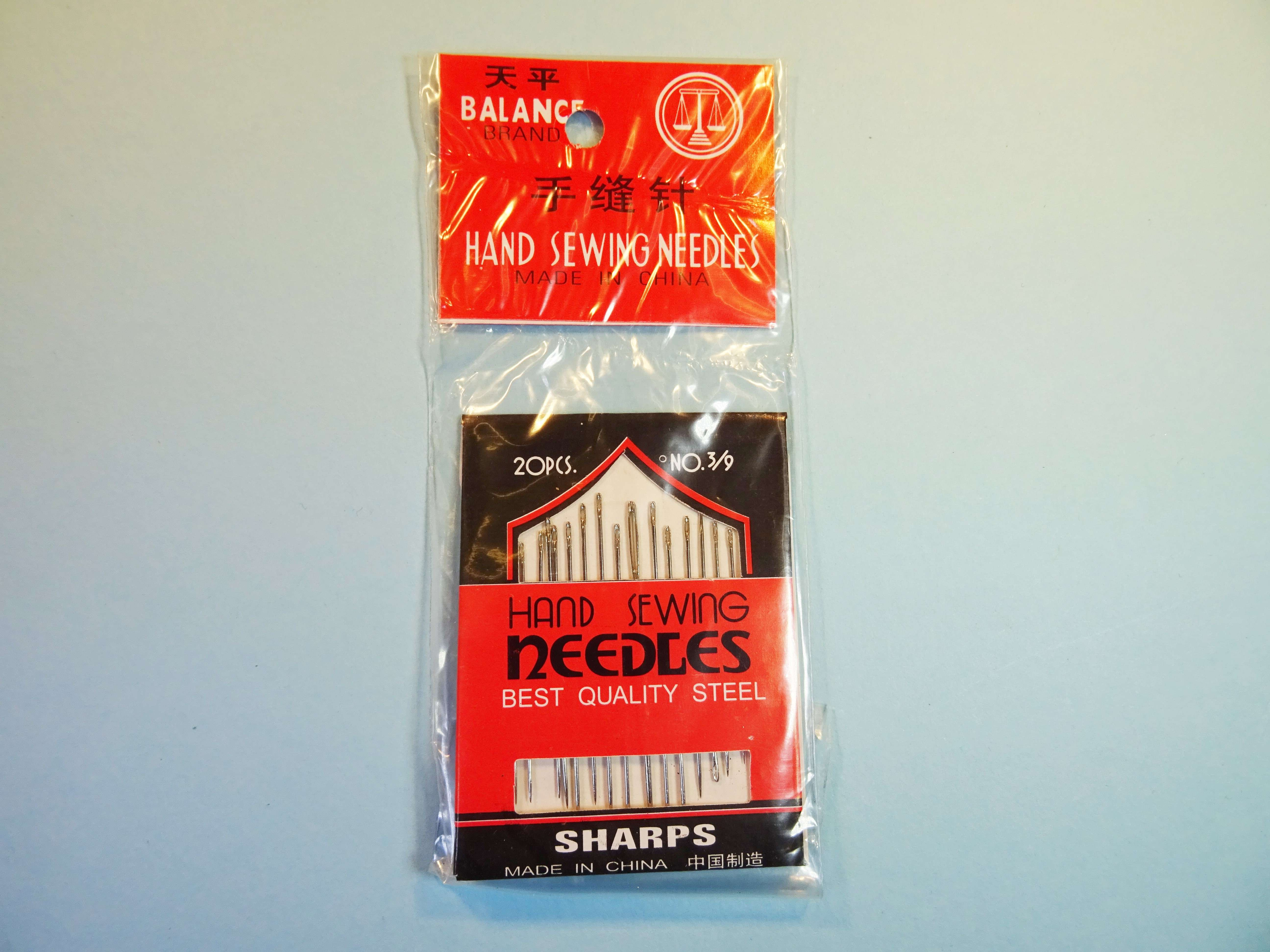 72 packs of sharps hand sewing needles size 3/9 [ 20 needles
