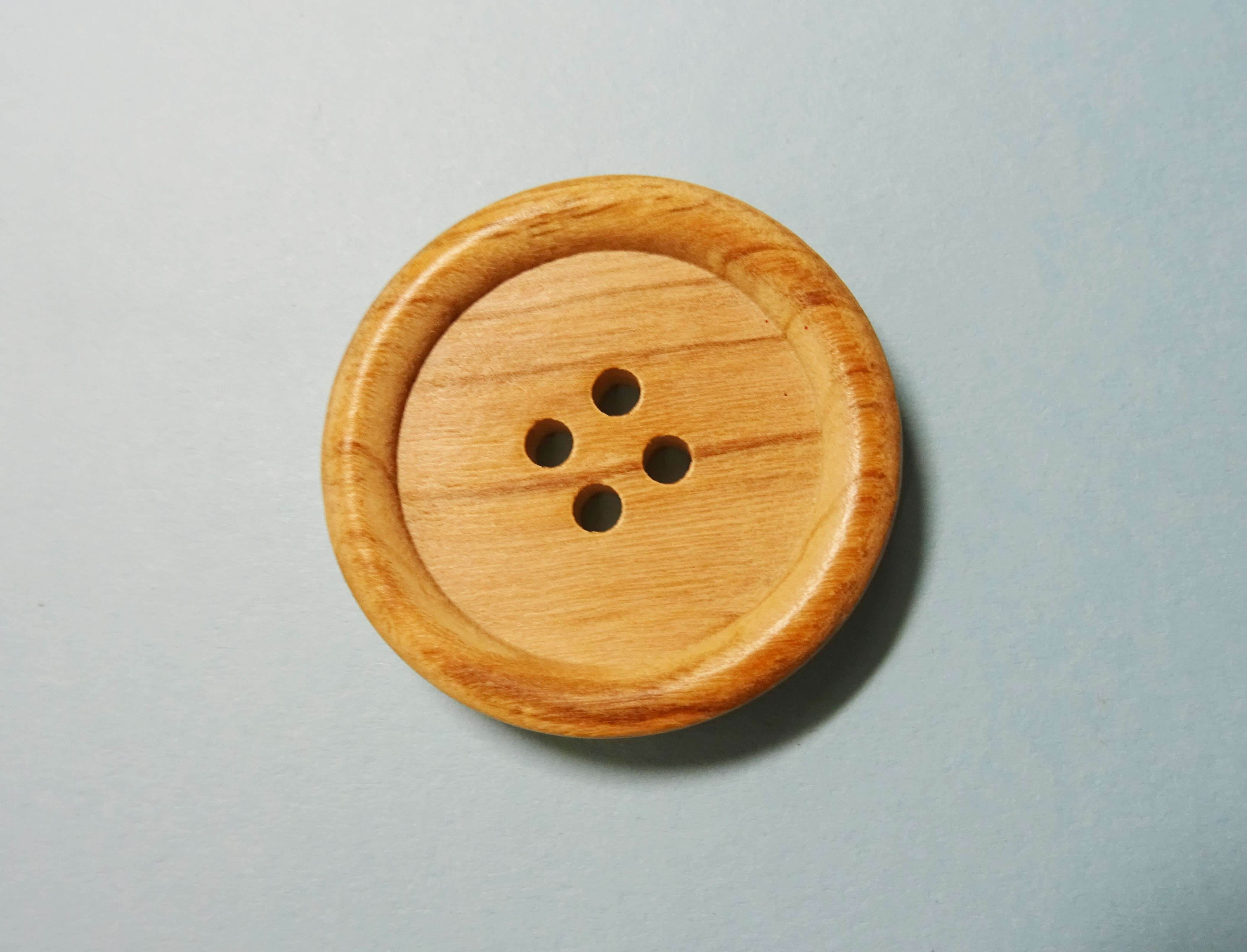 Wooden Button Large With 4 Holes Size 50cm 2 Inch Bits
